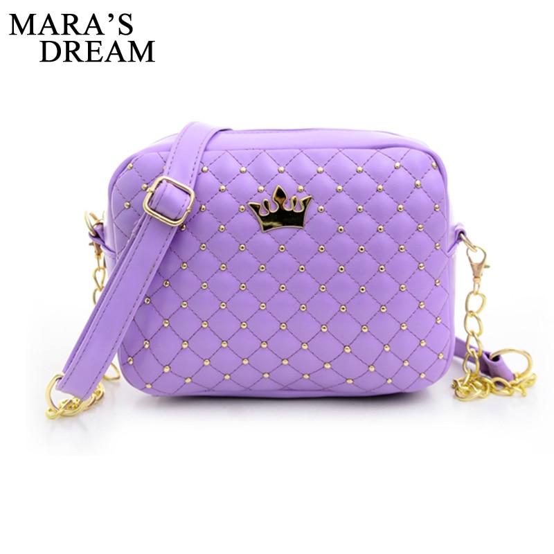 Mara sen małe torba kobieca modna torebka z korona Mini nit torba na ramię kobiety Messenger torby 2019 gorąca sprzedaż 2