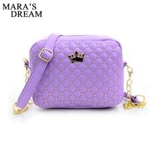 Mara's Dream Small Women Bag Fashion Handbag With Crown Mini Rivet Shoulder Bag Women Messenger Bag 2017 Hot Sale
