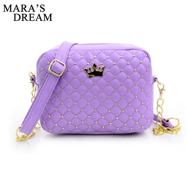 Mara's Dream Small Women Bag Fashion Handbag With Crown Mini Rivet Shoulder Bag Women Messenger Bag 2019 Hot Sale 2