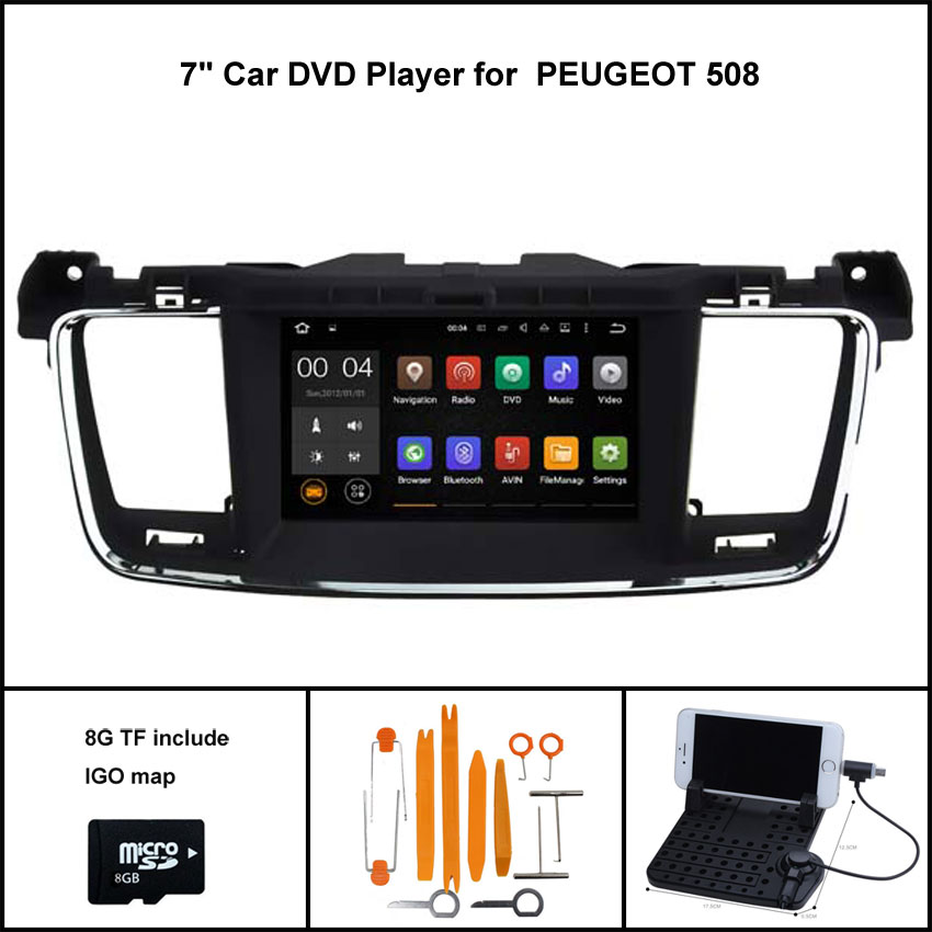 Android 7 1 Quad Core CAR DVD for PEUGEOT 508 STEREO GPS CAR font b RADIO