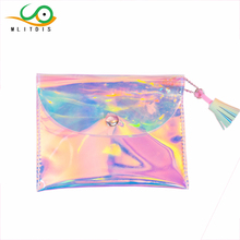 MLITDIS Wallet Women Holographic Laser Wallets Ladies Long Wristlet Female Coin Bag Girl Purse Evening Bags For Party Wedding