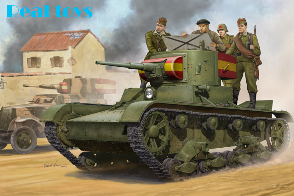 Hobby Boss Model 82496 1/35 Soviet T-26 Light Infantry Tank Mod.1935 Plastic Model Kit