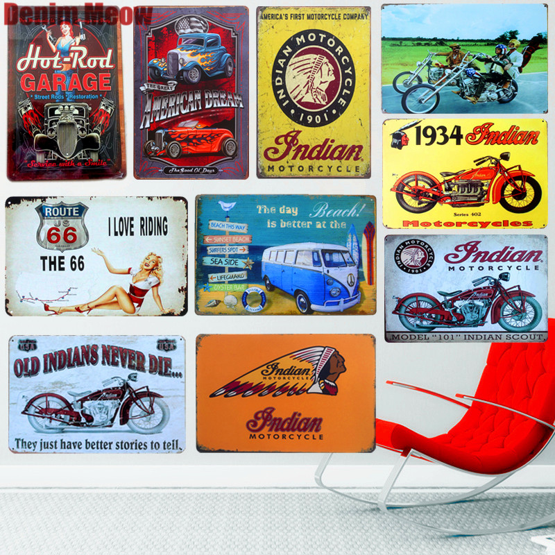 top 8 most popular vintage metalic poster route 66 brands