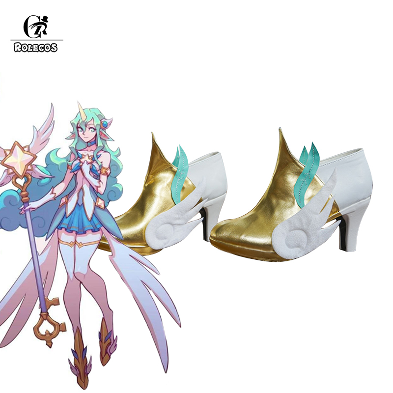 ROLECOS Game LOL Cosplay Shoes Star Guardian Soraka Cosplay Shoes Soraka LOL Game Women Cosplay Shoes сюрпризы lol