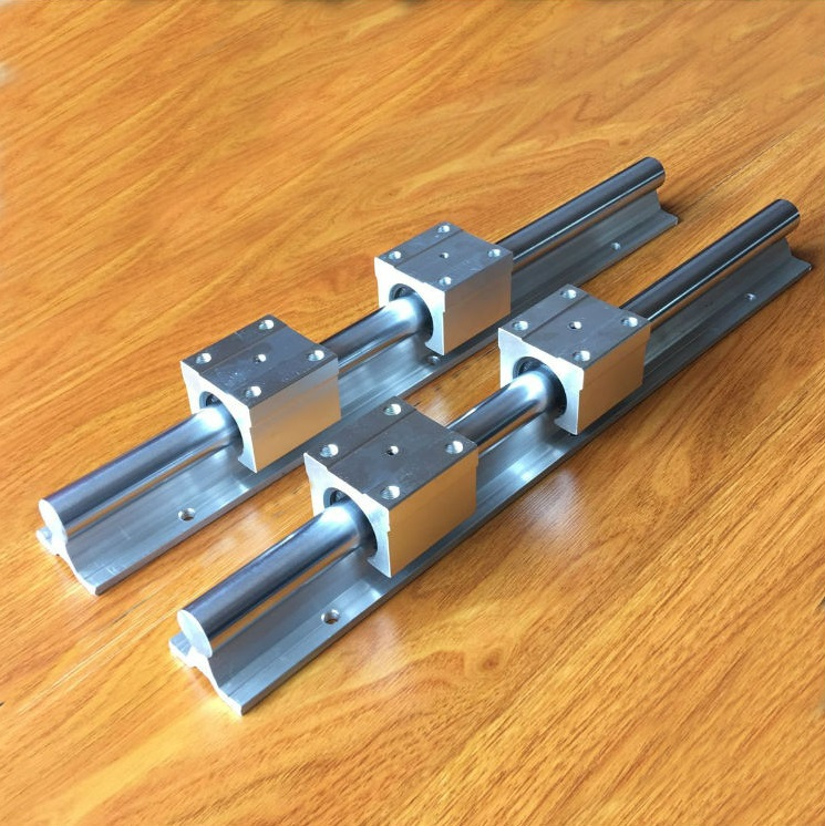 2pcs SBR12 12mm 2000mm support linear guide rail 4pcs SBR12UU linear bearing slide blocks CNC router