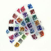 3000pcs Top Nail 12 Shiny Color Diamonds Acrylic Wheel Glitter Rhinestone Manicure Tips For Charms 3D