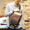New Backpack Men Europe Design Student Men S Travel Sport Bag Crazy Horse PU Leather Backpack