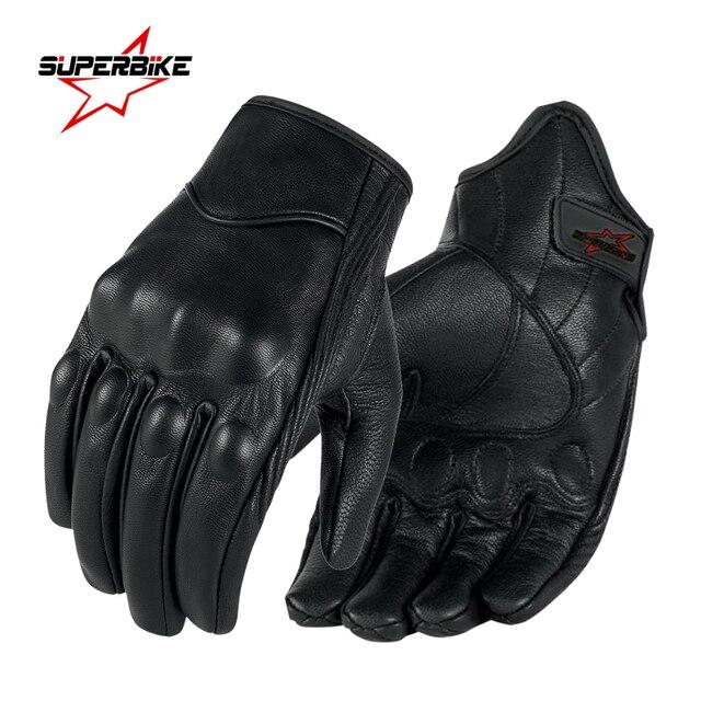 Motorhandschoenen Lederen Touch Screen Mannen Echt Geitenleer Fietsen Handschoen Motorbike Racing Guantes De Moto Luvas De Motocicleta