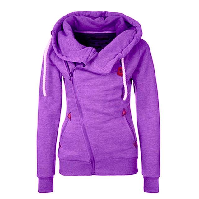 Velocidade para vender através da nova Europa e Nos Estados Unidos camisola cardigan zíper Lateral personalidade casaco de lã com capuz