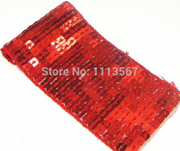 Wholesale 30yards 11 Lines Glitter Red Craft Hand Trim Ribbon Sequin Trim Beaded Lace Trim Sewing Trim T90 Entertainment Memorabilia