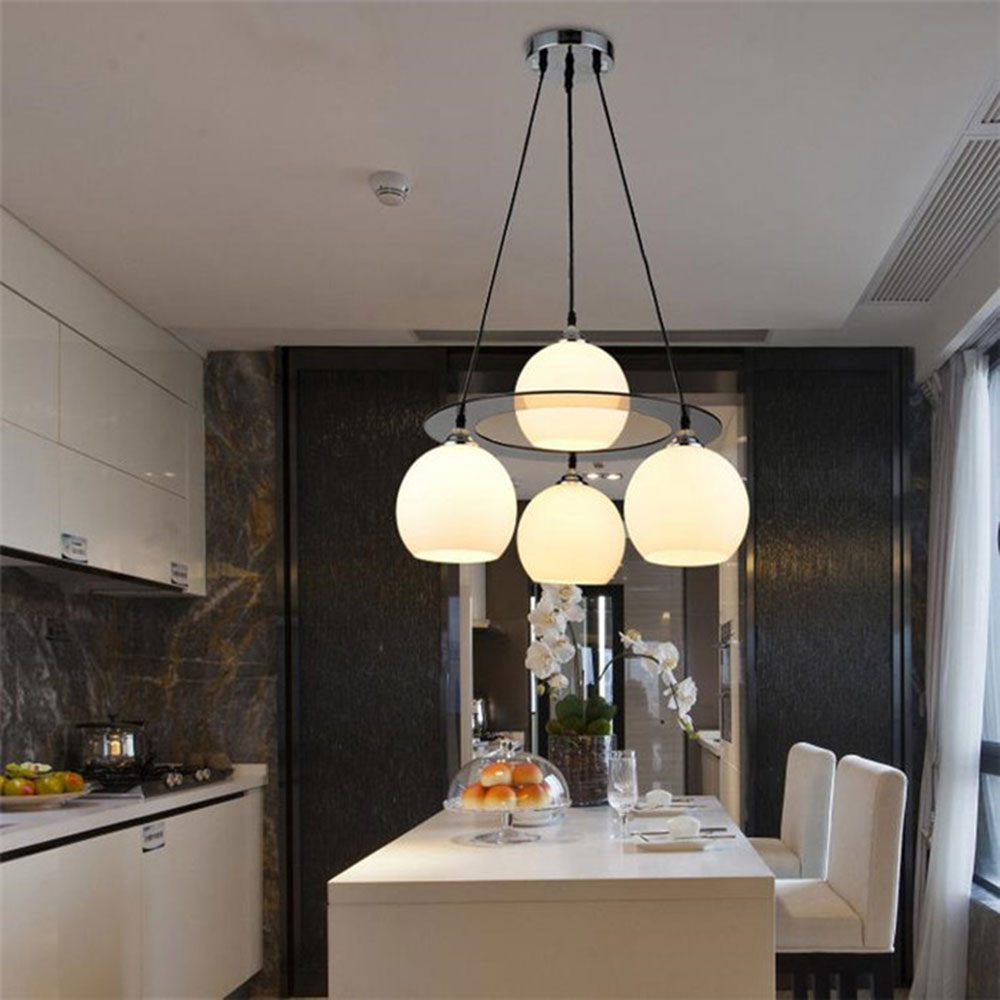 New Modern Glass lampshade Pendant Lights Dining room kitchen meal Hanging Lamps E27 110/220V Lustre For Home Decor Luminarias modern glass pendant light kitchen cafe fashion decor indoor lighting white lampshade hanging rope lamp e27 110 220v
