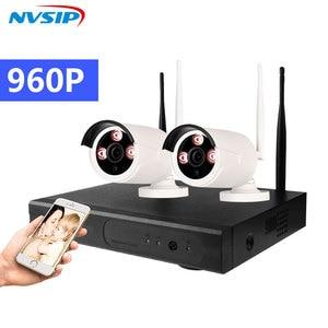 Image 2 - 4CH Wifi Cctv systeem Draadloze Nvr Kit 2 Stuks 960P Hd Ip Camera 1.3MP Outdoor Waterdichte Home Security Surveillance systeem