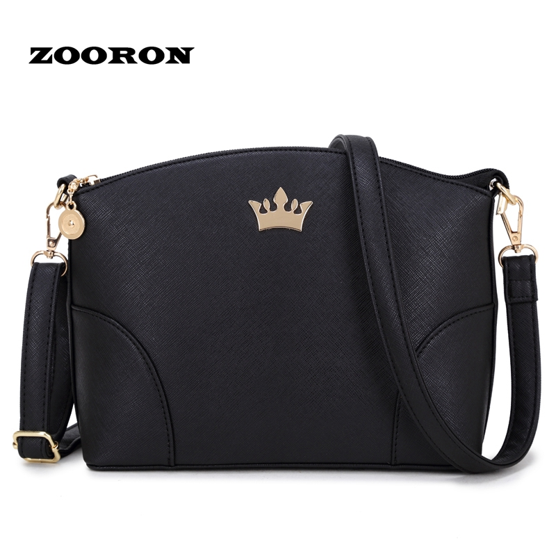 ZOORON 2017 new edition of cross grain crown women shell bag handbag fashion women one shoulder inclined messenger bag environmentally friendly pvc inflatable shell water floating row of a variety of swimming pearl shell swimming ring