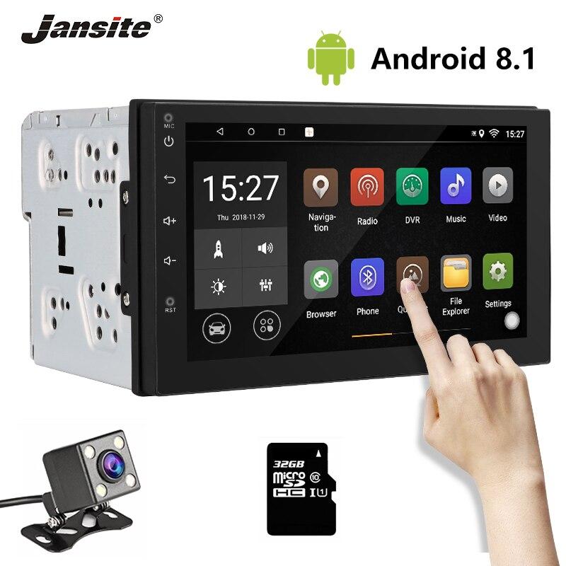 Jansite Car Player 7 Universal 2 Din car Radio Touch screen Dash Stereo Car Receiver Audio Video Bluetooth FM GPS Radio TF Card