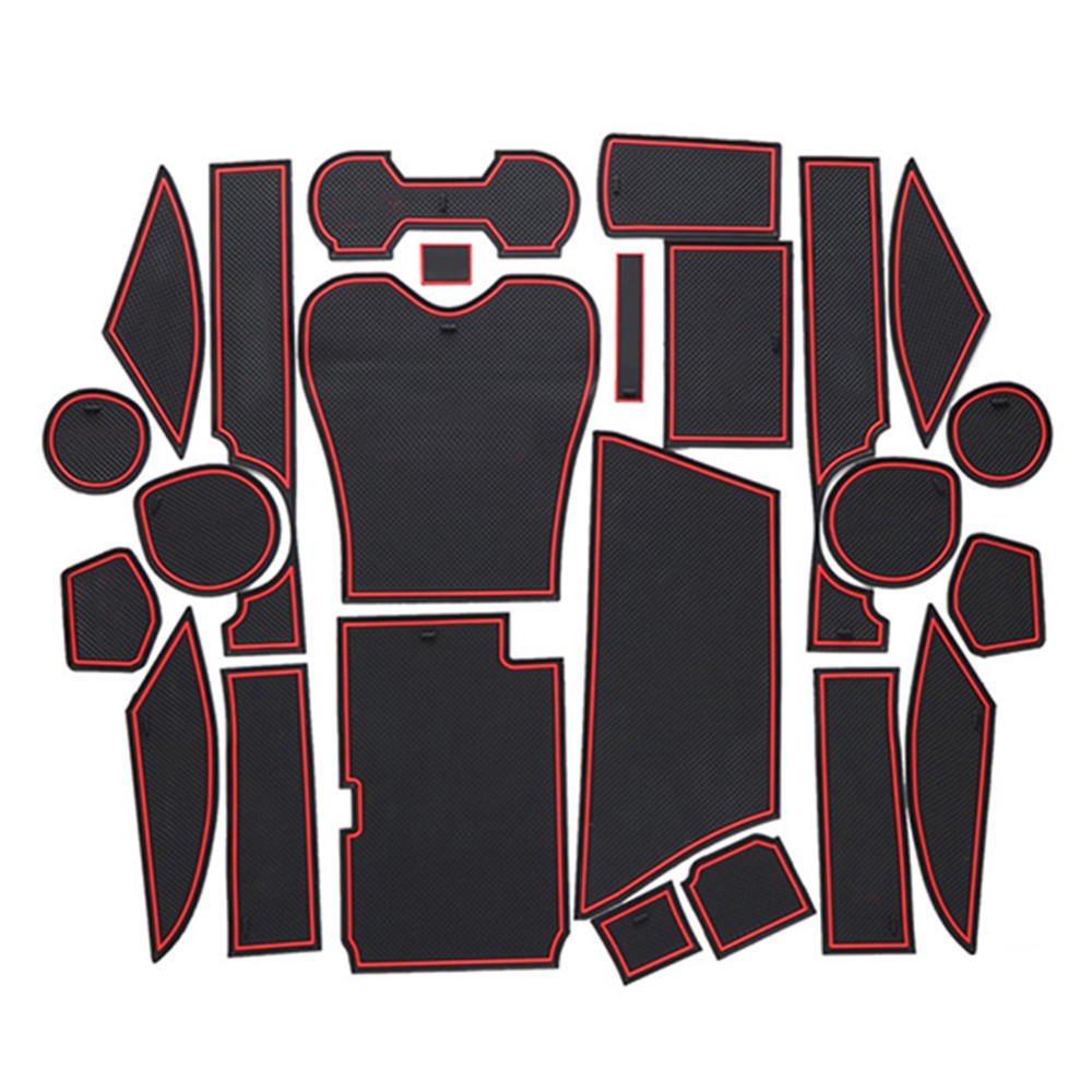 Anti Slip Gate Slot Mat Rubber Coaster for Lexus RX RX270 RX350 RX450h 2010 2012 2013 2014 2015 270 350 450h Accessories Sticker