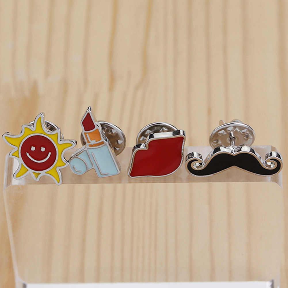 Fashion 1 PC Acrylic Perhiasan Kustom Wanita Lipstik Jenggot dan Sun Bros Seksi Bibir Merah Bros