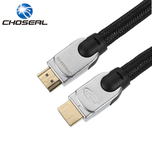 Choseal HDMI 2.0 Cable 3D 4K*2K Large Diameter 11.11MM HD Braided Nylon HDMI To HDMI Cable For PS4/TV/Computer/Projector