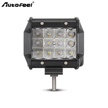 "Фотография Autofeel Triple Rows Led Car light bar 4"" Straight Work Light 48W Large Led Chips Offroad Spot Beams 6000K 12 v SUV ATV UTE RZR"