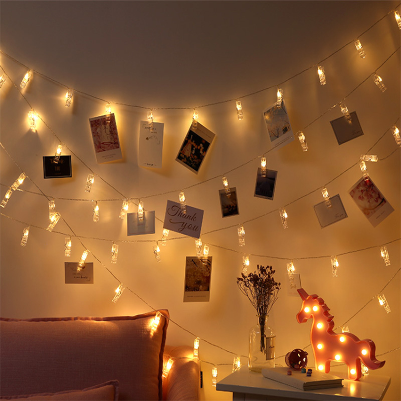 Creative photo clip LED light string New Year party ...