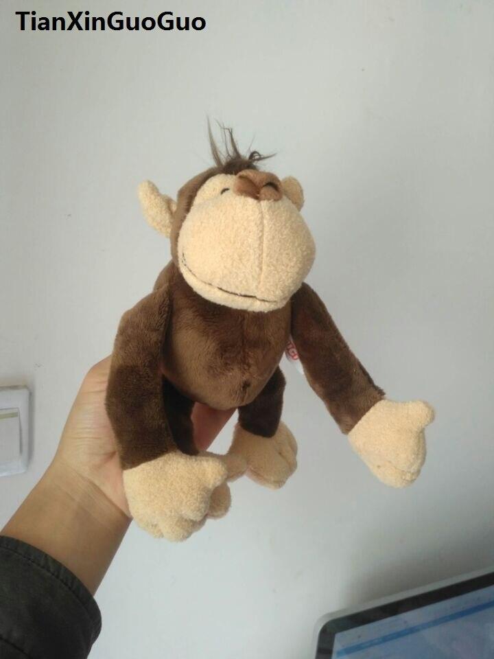 น่ารัก25เซนติเมตรการ์ตูนป่าลิงของเล่นนุ่มตุ๊กตาของขวัญคริสต์มาสb2588