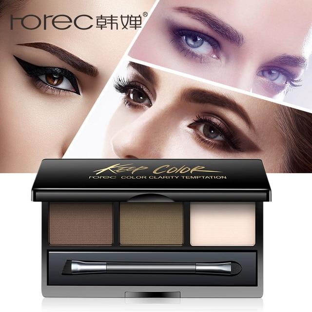 Rorec Waterproof Eyebrow Stamp Powder Eyebrow Cake Powder Dark Brownbrown Beauty Makeup Tool Eyebrow Powder Seal Quick Makeup In Eyebrow Enhancers