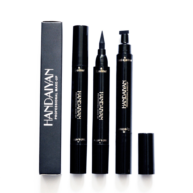 Beauty Essentials Contemplative 12pcs/set Handaiyan Double Head Seal Eyeliner Pen Liquid Eye Liner Pencil Eye Beauty Makeup Cosmetic 2 In 1 Waterproof Eyeliner To Produce An Effect Toward Clear Vision Back To Search Resultsbeauty & Health