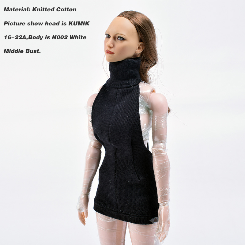 "1:6 Scale black sweater Model For 12/"" Female PH JO HT body"