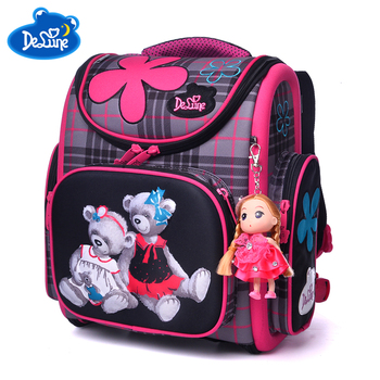 e24f13cf6d9d 2018 Водонепроницаемый Рюкзак Дети сумка детей школьные сумки для мальчиков  и девочек 3D рюкзаки ранцы начальной школы рюкзак мешок enfant