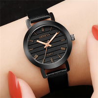 여성용 시계 여성용 시계 여성용 가죽 시계 탑 브랜드 제네바 손목 시계 명품 시계 Relogio Feminino 2019 Saat Reloj