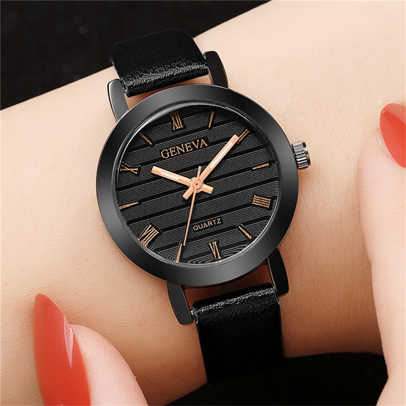 Women's Watches Ladies Watches Women Leather Clock Top Brand Geneva Wrist Watch Luxury Clock Relogio Feminino 2019 Saat Reloj