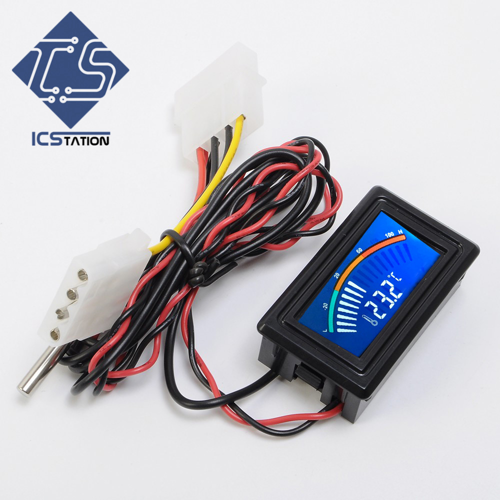DC 5-25V Thermometer Temperature Display For Computer Air Conditioner Car Water Measurement россия шк в ярославле 25 5