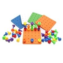 2017 Детские игрушки Монтессори детские головоломки Peg доска гриб гвозди детские развивающие игрушки подарки