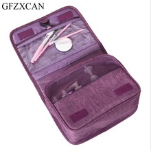 New cationic folding waterproof hook cosmetic bag portable large capacity multi-function wash cosmetic bag недорого