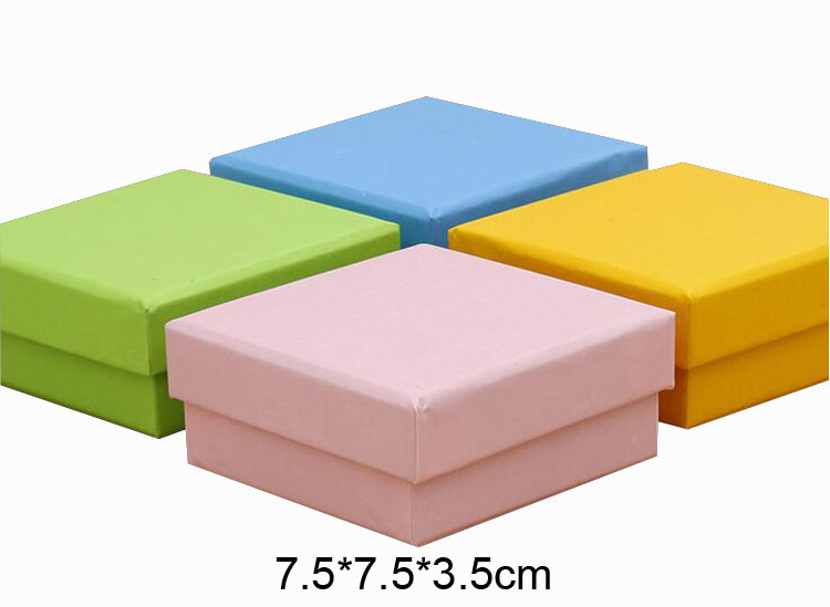 Square Pink Empty Gift Box 7.5*7.5*3.5CM 40pcs/lot Free shipping 1000g hard paper OEM LOGO Pinky Color Party Box
