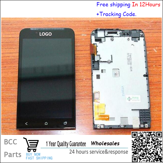 Test OK Original LCD display &touch screen digitizer For HTC One V G24 T320E with frame LOGO & best quality test ok for htc one max lcd display touch screen digitizer panel with frame assembly free shipping track code