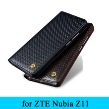 for Nubia Z11 Business Flip Phone Cover Top Quality Genuine Leather Skin Case for ZTE Nubia Z11 5.5inch Free Shipping