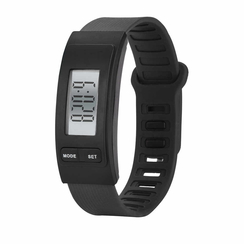 Reloj rastreador de Fitness reloj despertador paso a paso reloj pulsera podómetro contador de calorías deporte Digital LCD distancia