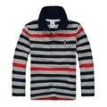 Alta Calidad Camisa de Polo de la Marca Niños Infantil Chicos de Manga Larga Camisa de Algodón Caliente Camisetas 2-12age
