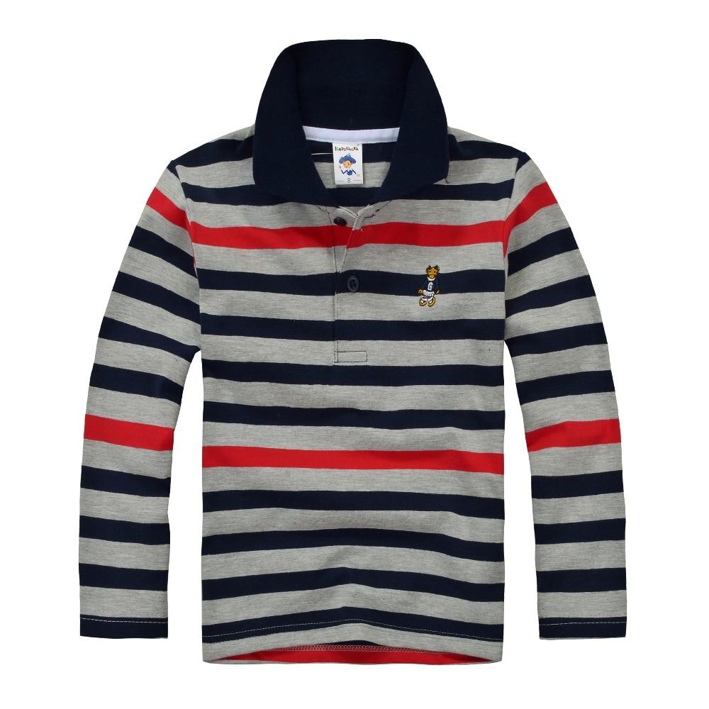 High Quality Kids Boys Polo Shirt Brand Children Long