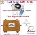 Dual Band Repetidor 3G GSM Repetidor GSM 900 3G WCDMA 2100 amplificador de Sinal De Celular GSM Impulsionador 3G Repetidor de Sinal de Celular 1 Conjuntos