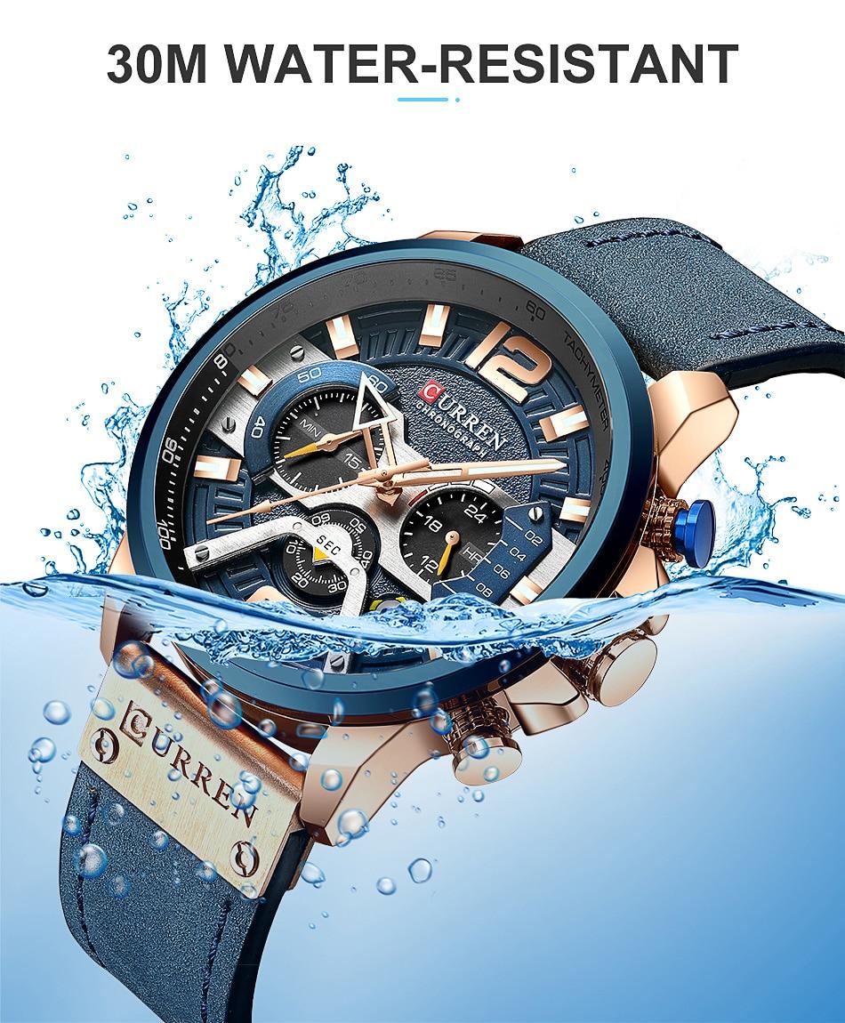 CURREN Luxury Brand Men Analog Leather Sports Watches Men's Army Military Watch Male Date Quartz Clock Relogio Masculino 2019 7