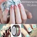 13 Цветов 3 ШТ. Разноцветные Разноцветные Rolls Чередование Ленты Линия DIY Nail Art Советы Наклейки Украшения Красоты Инструменты