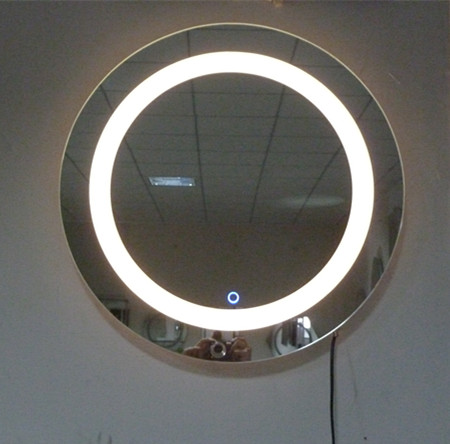 600 Round Belt Led Bathroom Mirror Lighting Mirror Glass Touch Screen  Vanity Mirror Classic Fashion Guanchong