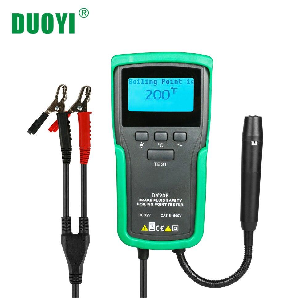 DUOYI DY23F Car Brake Fluid Tester Boiling Point Liquid Car Diagnostics Tool Auto Goose Neck Probe 12V DC For DOT3 4 5 5.1
