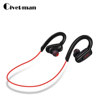 Civetman S5 Waterproof Running Ear Headset Stereo Sport Earphone Wireless Bluetooth Headphone For Phone Blutooth