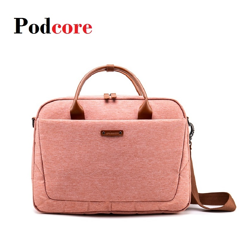 Pink Fashion Notebook Laptop Bag Women Laptop Briefcase Case for 14 15 6 Inch Pocketbook Tablet