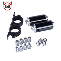 Universal Aluminum Racing Fuel Filter AN10 AN8 AN6 Adapter Fittings With Fuel Pump Brackets 2pcs Black
