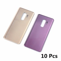 10pcs Battery Back Cover Glass For Samsung Galaxy S9 G960 G960F / S9+ S9 Plus G965 G965F Housing Battery Cover With Sticker