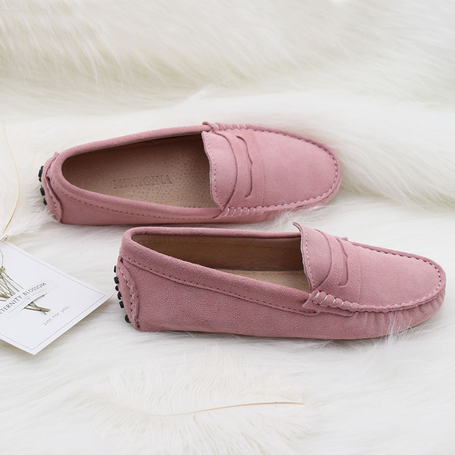High Quality 2018 New Women Flats Genuine Leather Women Shoes Brand Driving Shoes Spring Summer Women Casual Shoes