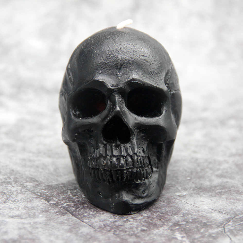 Scary Christmas Party Accessories White 7-Star Skull Candle 2 Pack Horror and Novelty Decor Luxury Women Gift Birthday Candle Gifts Home Decorative Themed Candles for Halloween